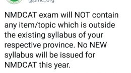 NMDCAT Syllabus 2020 Latest News