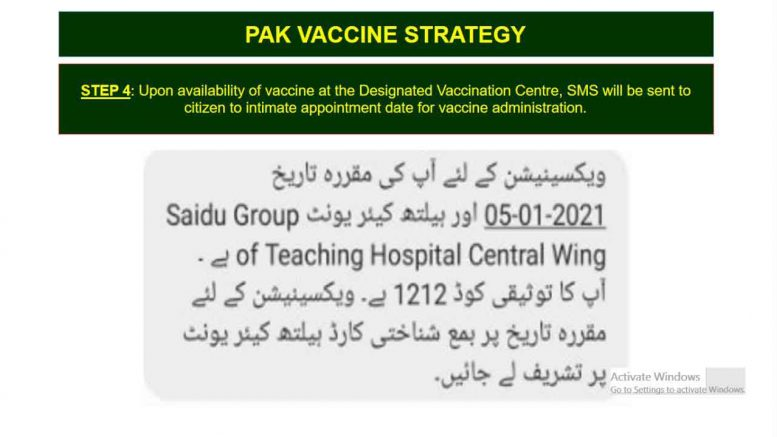 Report Vaccination Codes and Centres Problems in Pakistan