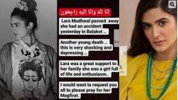 Lara Mudhwal Death in Car Accident Balakot